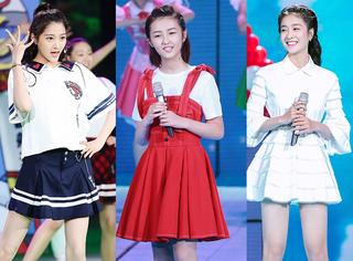 关晓彤、张雪迎和张子枫,小花旦都穿上了青春活力的裙装,谁最美?