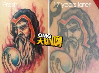 当你的纹身掉色之后