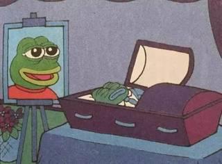 悲伤蛙死了,被作者画死了