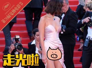 """戛纳红毯Bella又露底裤,女明星""""走光""""已成保留节目"""