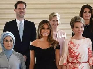 这一次的北约会议,混在第一夫人里这位第一男士最抢镜!