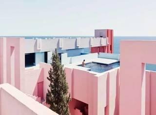 少女心爆棚的粉蓝色建筑群,成了最清新的拍照圣地