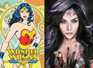 看完神奇女侠,我迷上了彪悍型女汉子以及硬汉美漫风妆容