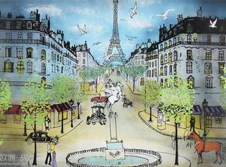 3D玻璃光影画出的巴黎,美得太梦幻...