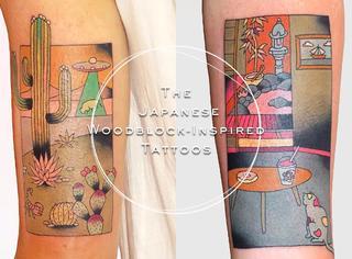 当日本传统浮世绘遇上纹身,这效果简直是艺术品!