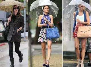 下雨天就穿的土了点?别找借口,人家为什么这么时髦!