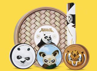 功夫熊猫也有联名彩妆啦?话说这不是蒸笼吗?