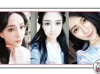 仿妆倪妮高圆圆权志龙李易峰,她脸上大概出现了大半个娱乐圈。。。