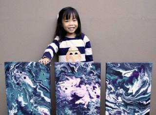 备受瞩目的小画家,年仅5岁已售出超过100幅画作