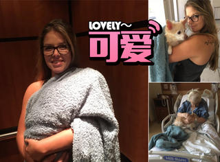 這個姑娘把狗狗混進了醫院,但是大家都很支持她