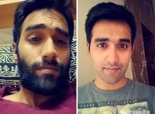 25张刮胡子前后对比照,简直不敢信是同一人!