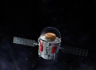 肯德基将自己的香辣鸡腿堡送到了外太空