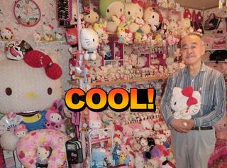 67岁大叔收藏近6000件Hello Kitty物品,房子也刷成了粉粉的
