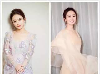 """打败""""蛇精脸""""成为韩选亚洲最美女星,赵丽颖靠的是她的圆脸和""""仙女服"""""""