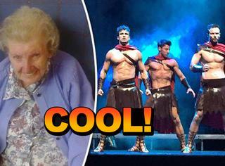 再不疯狂就死了,98岁奶奶看了第一场脱衣舞男秀