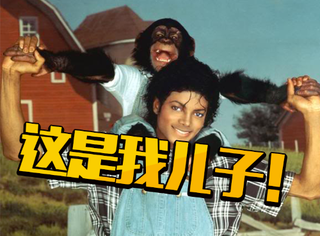 """史上最拉风宠物:迈克尔杰克逊的黑猩猩""""泡泡""""!"""