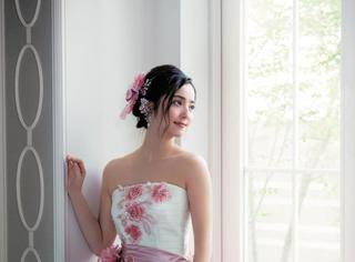 佐佐木希婚纱照片来了,女神要一直美下去