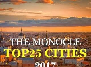 2017全球最宜居城市Top25,你最向往哪一座?