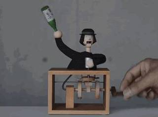 木偶般童话世界!日本艺术家手工木作机械玩具