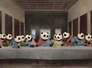 当国宝熊猫遇上世界名画,萌动古今!我也就看了百八十遍!