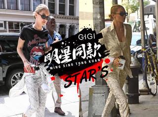 GIGI在纽约公寓前街拍,大捧贝嫂的潮牌儿!