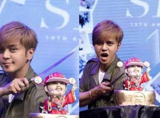蔡依林给罗志祥送蛋糕,原来她竟是娱乐圈的蛋糕大王!