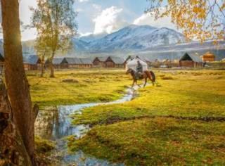 金秋若有十分美,九分在北疆,领略童话般梦幻秋色