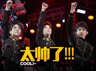TFBOYS四周年演唱会:王俊凯蓝发,易烊千玺solo,王源弹吉他