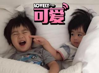 林志颖老婆晒双胞胎,兄弟俩互动萌cry我啦!