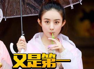 8月艺人新媒体指数榜单出炉:赵丽颖已经蝉联3个月位居冠军了!