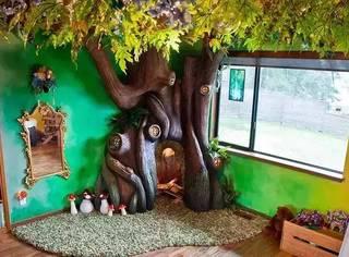 他花了18个月亲手为女儿造出了一个童话世界!