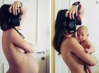 孕妇照这样拍才更有意义......太有创意了