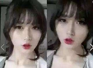 韩国网红美女卸妆前vs卸妆后: