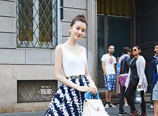 乔欣受品牌独家邀请出席活动,一袭长裙美成了仙女