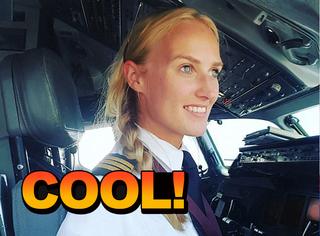 这个美女飞机师有才又有颜,但人家的故事却特励志