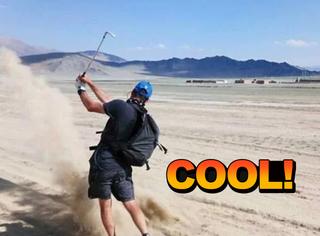 他走了2000公里,一路上只打高尔夫,足足打了20093杆!