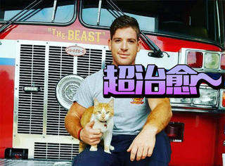 消防员救了一只小橘猫,现在每天卖萌检查装备样样都行