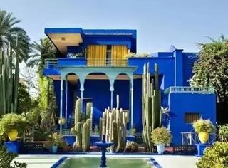 """""""有一天我会去摩洛哥的棕榈树下找你"""",那一抹马约尔蓝,是伊甸园召唤"""