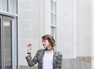 格纹西服外套原来这么有魅力?!