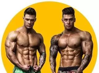 """全球最帅肌肉双胞胎,带你练出最强肉体""""打桩机""""!"""