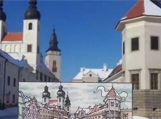 他一边旅行一边用马克笔画遍了整个欧洲!