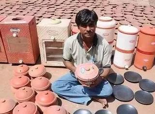 一个初中没毕业的印度小哥,却用陶土和水做出了不用电的冰箱,开起挂来让世人都震惊了!