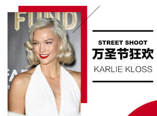 Karlie Kloss万圣节梦露cos,金发红唇很吸睛!!!