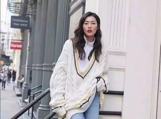 oversized毛衣这样穿美到爆!!!
