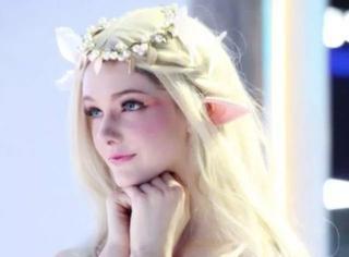 她的照片因为太美被网友当成是动画,真人美成仙女..