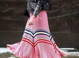 何穗江疏影的毛衣裙,简直是老寒腿的救星