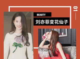 仙女姐姐刘亦菲穿花裙,变成花仙子啦!