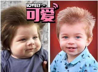 还记得那个头发超浓密的小男孩吗?现在他的头发更长了