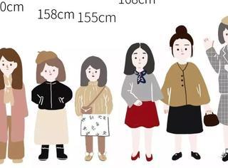 155cm-180cm的女生,在男生眼里分别是什么样子?
