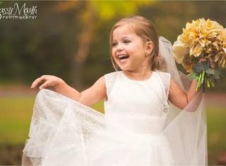 这组5岁小女孩的结婚照,灿烂笑容的背后却充满了泪水…